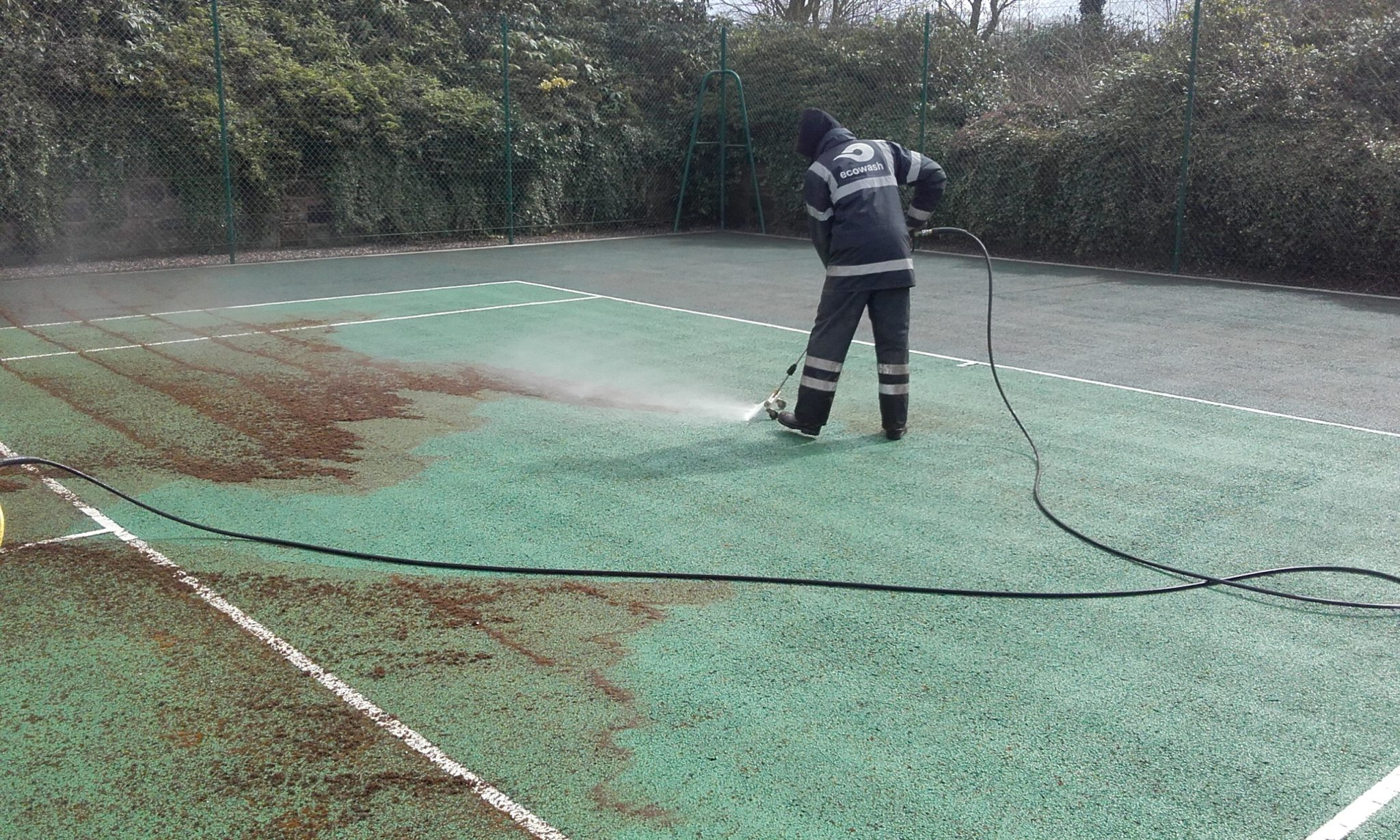 20160407_130615 Tennis Court Cleaning