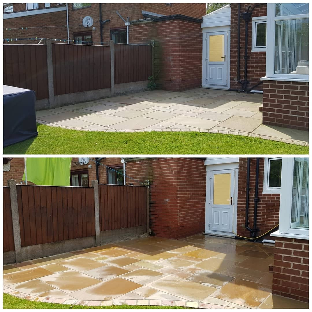 IMG_20180518_201743_594 Indian Sandstone Patio / K-rend Cleaning - Knowsley Village, Liverpool